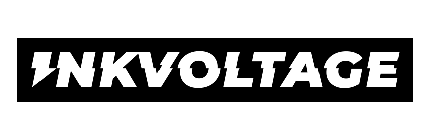 Logo InkVoltage David Ardila Diez tabletop games portfolio