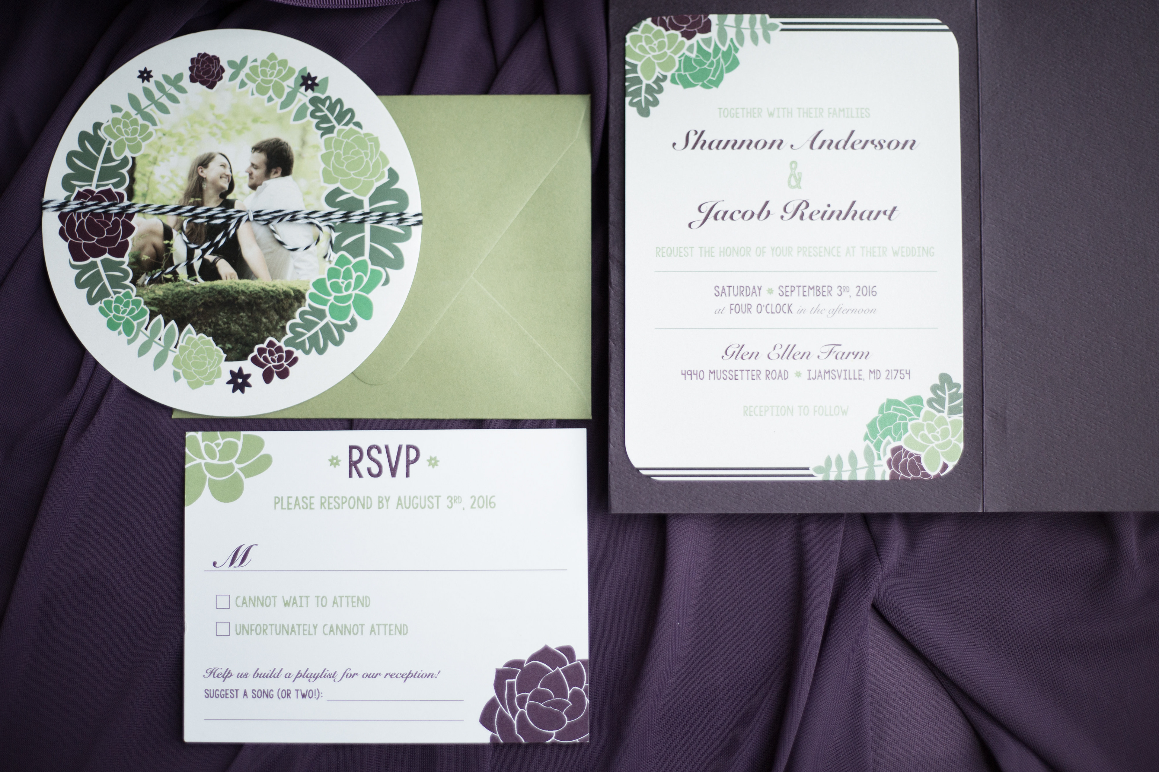 Reinhart Graphic Design - Reinhart Wedding Invitation