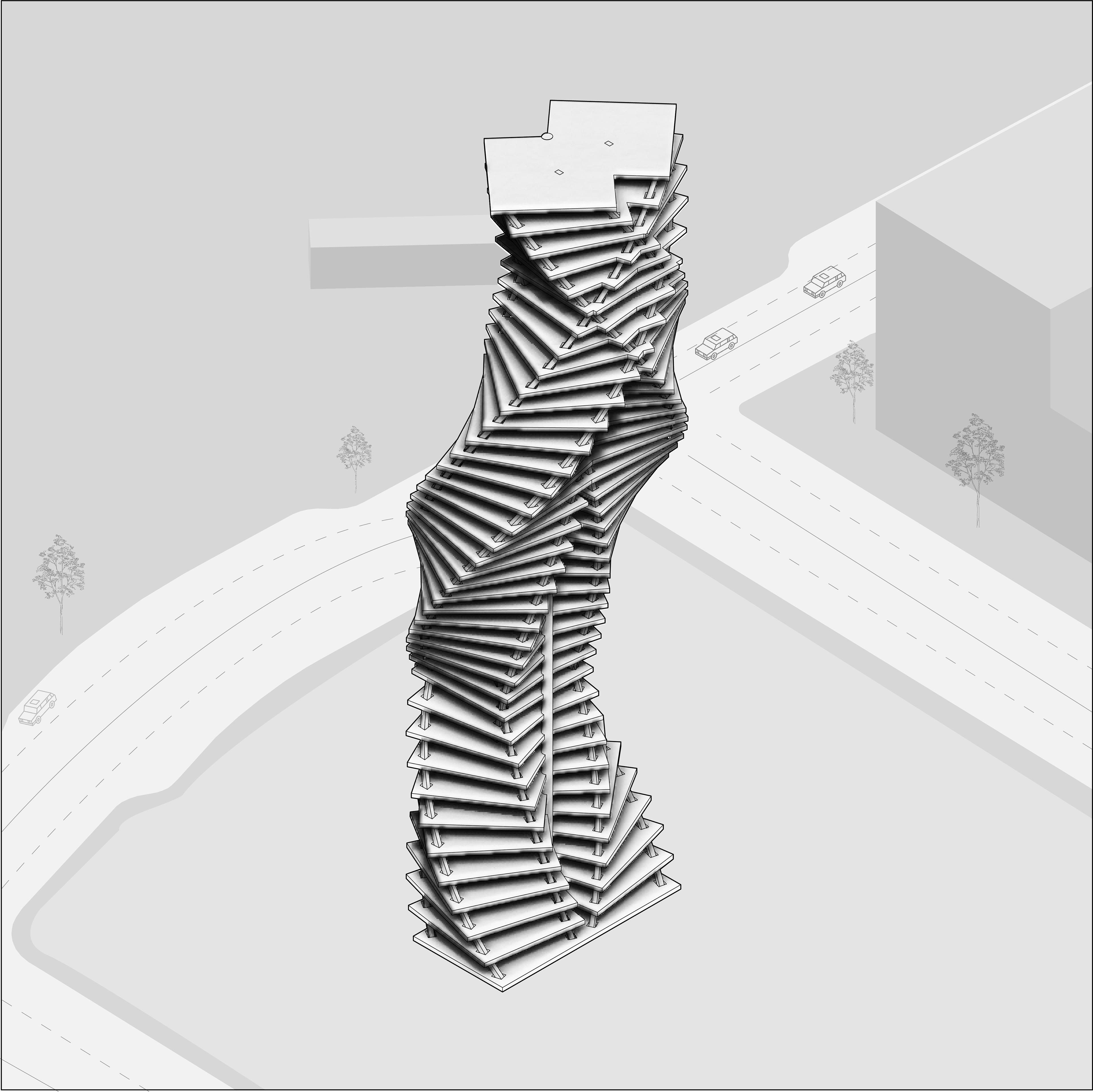 Zoona Aamir - DOUBLE HELIX TOWER