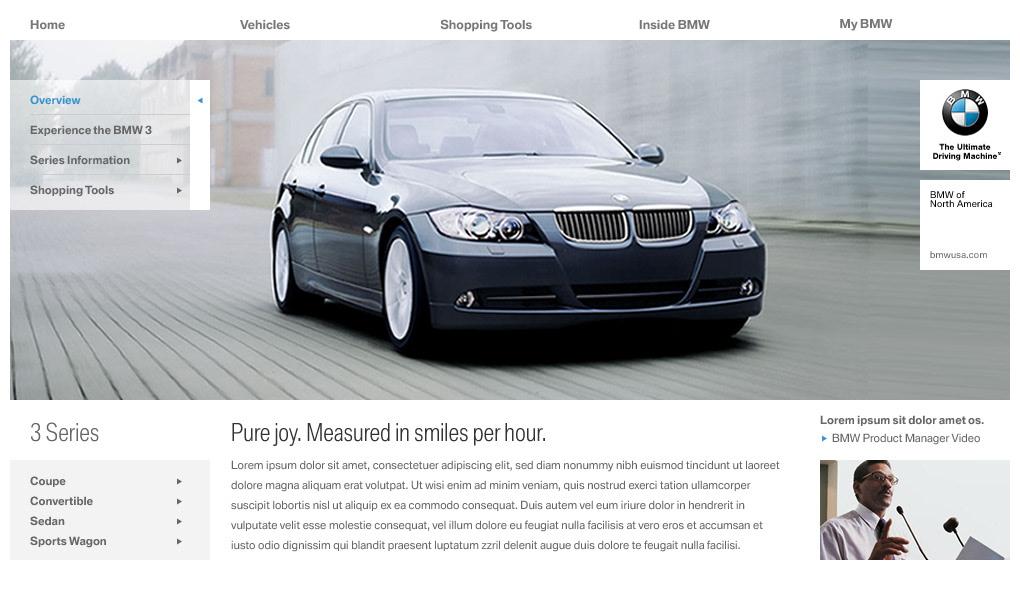 My Bmw Usa >> Kevin Flatt Design Bmw Usa Website Concept