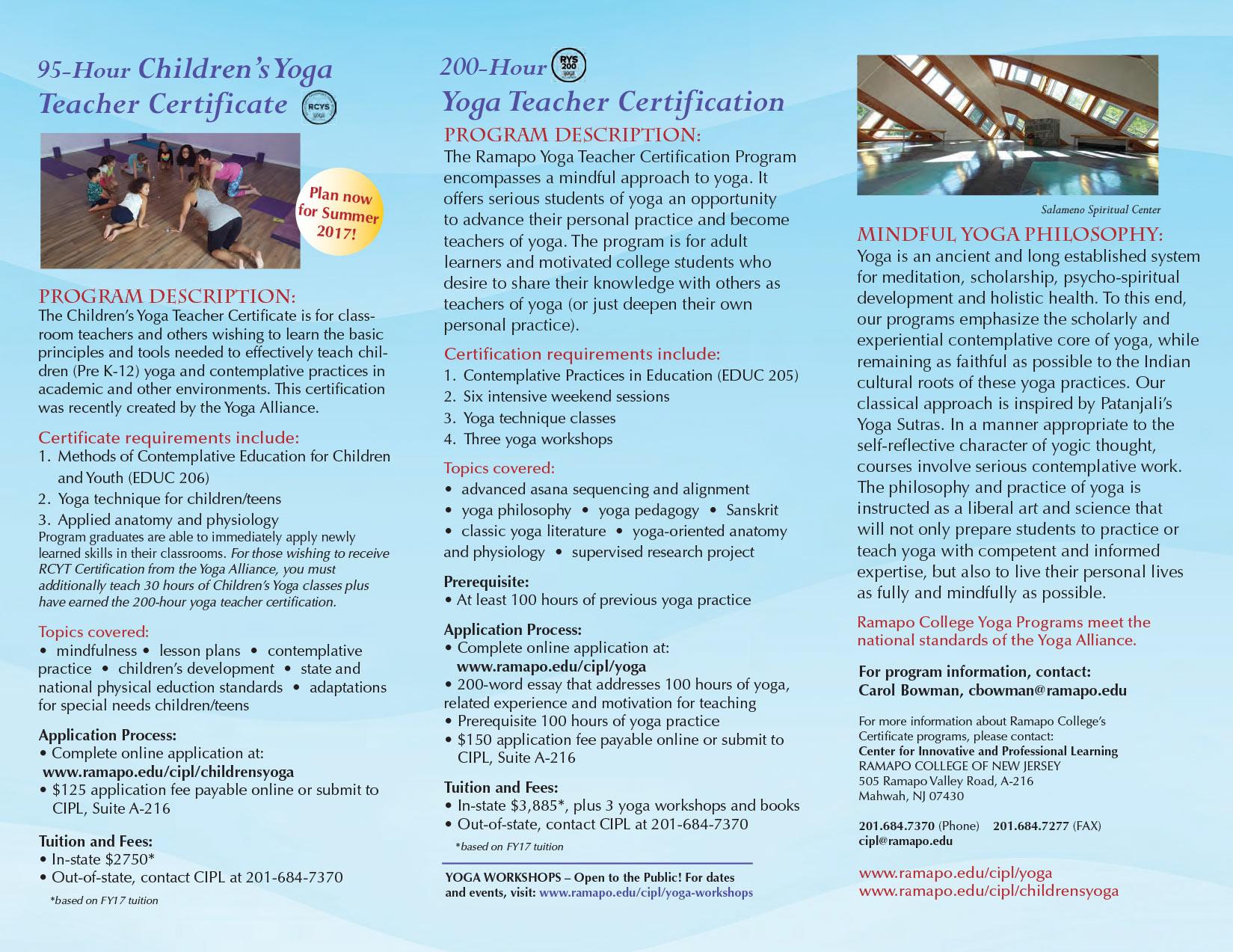 Elynn cohen ramapo college yoga teacher certificate program trifold brochure 1betcityfo Images