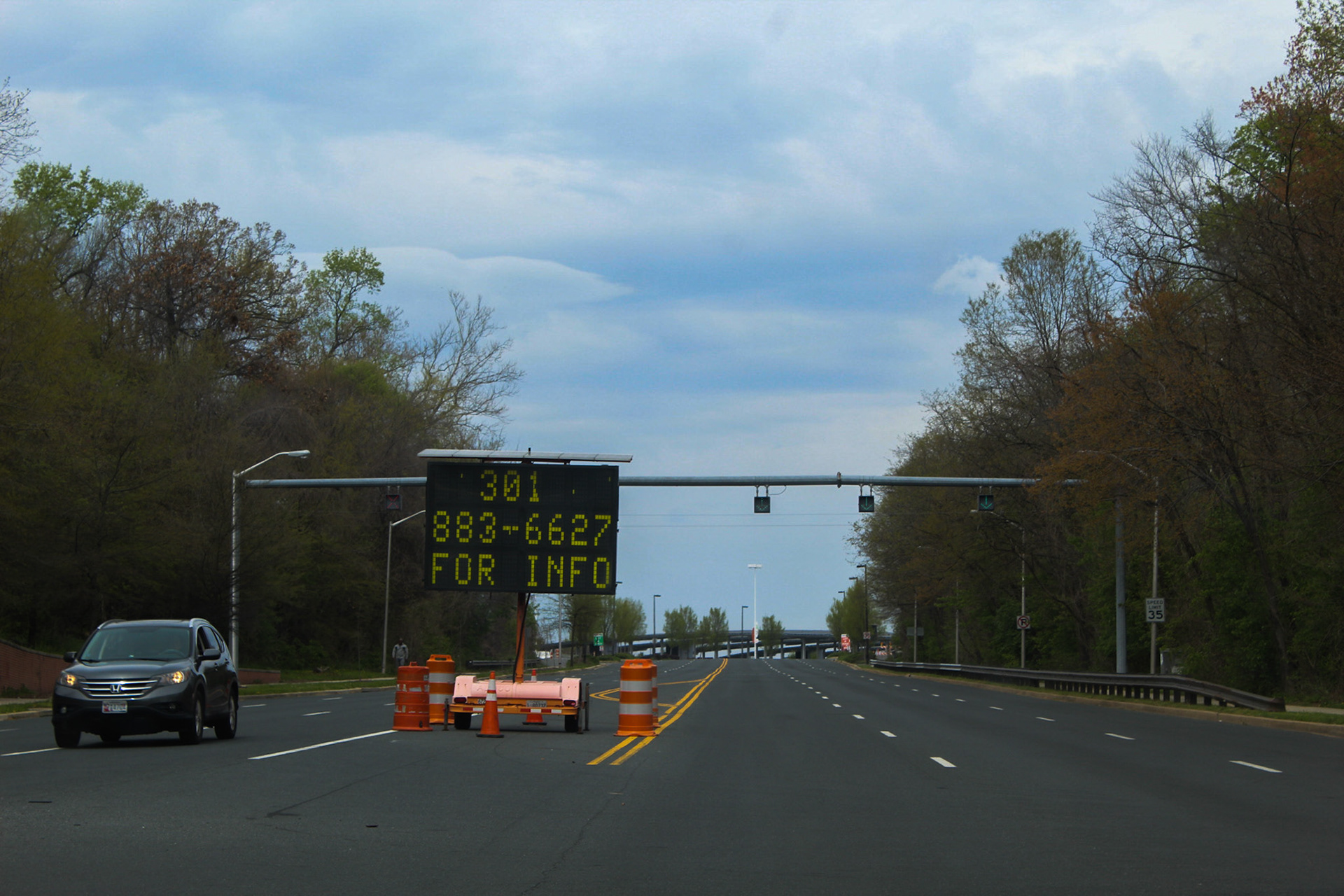 Directions on Covid-19 testing right before you get to FedEx Field- April 6