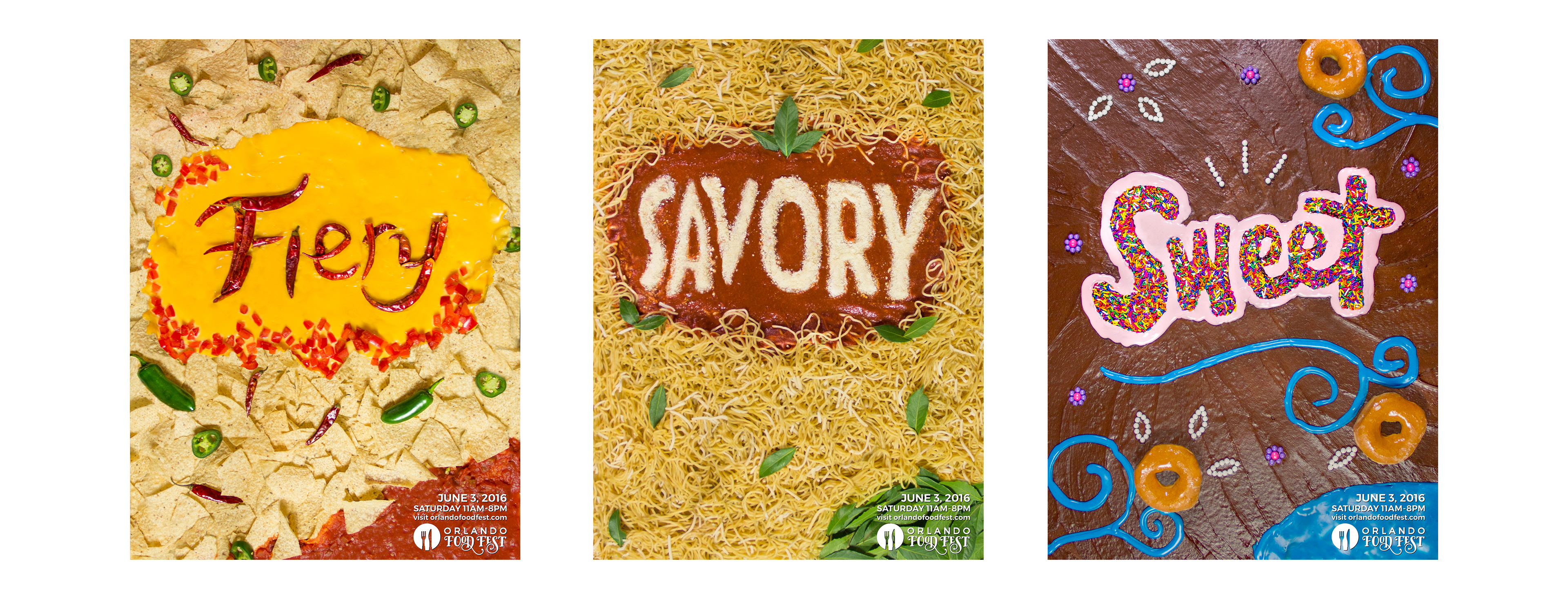 Tharin White Food Typography Advertisements