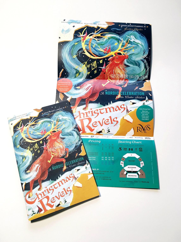 Christmas Graphic Design.Ilona Partanen The Christmas Revels
