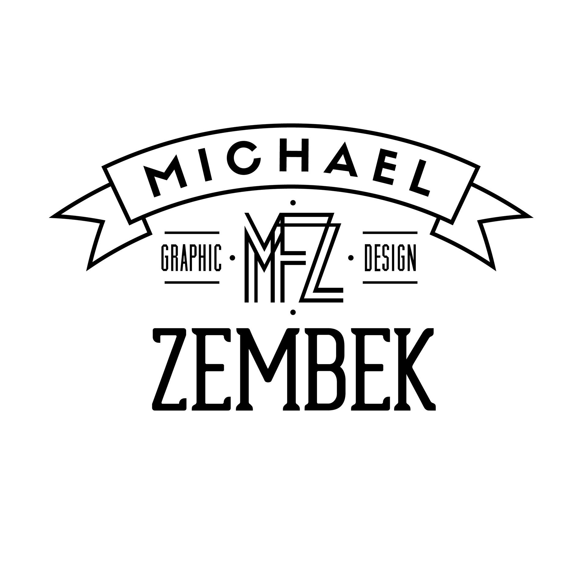 Michael Zembek Graphic Designer Personal Logo Design
