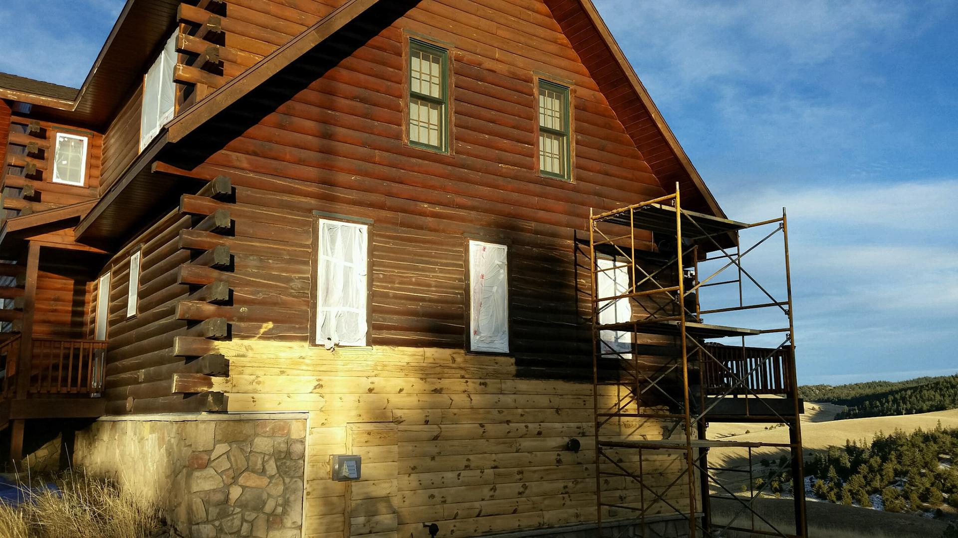 Log Home Restoration Colorado - Repair of Log home Colorado
