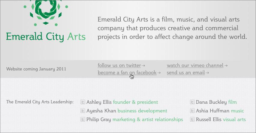 Ask Designers Emerald City Arts Branding
