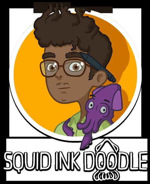 SQUID INK DOODLE | Portfolio of Illustrator Mominur Rahman