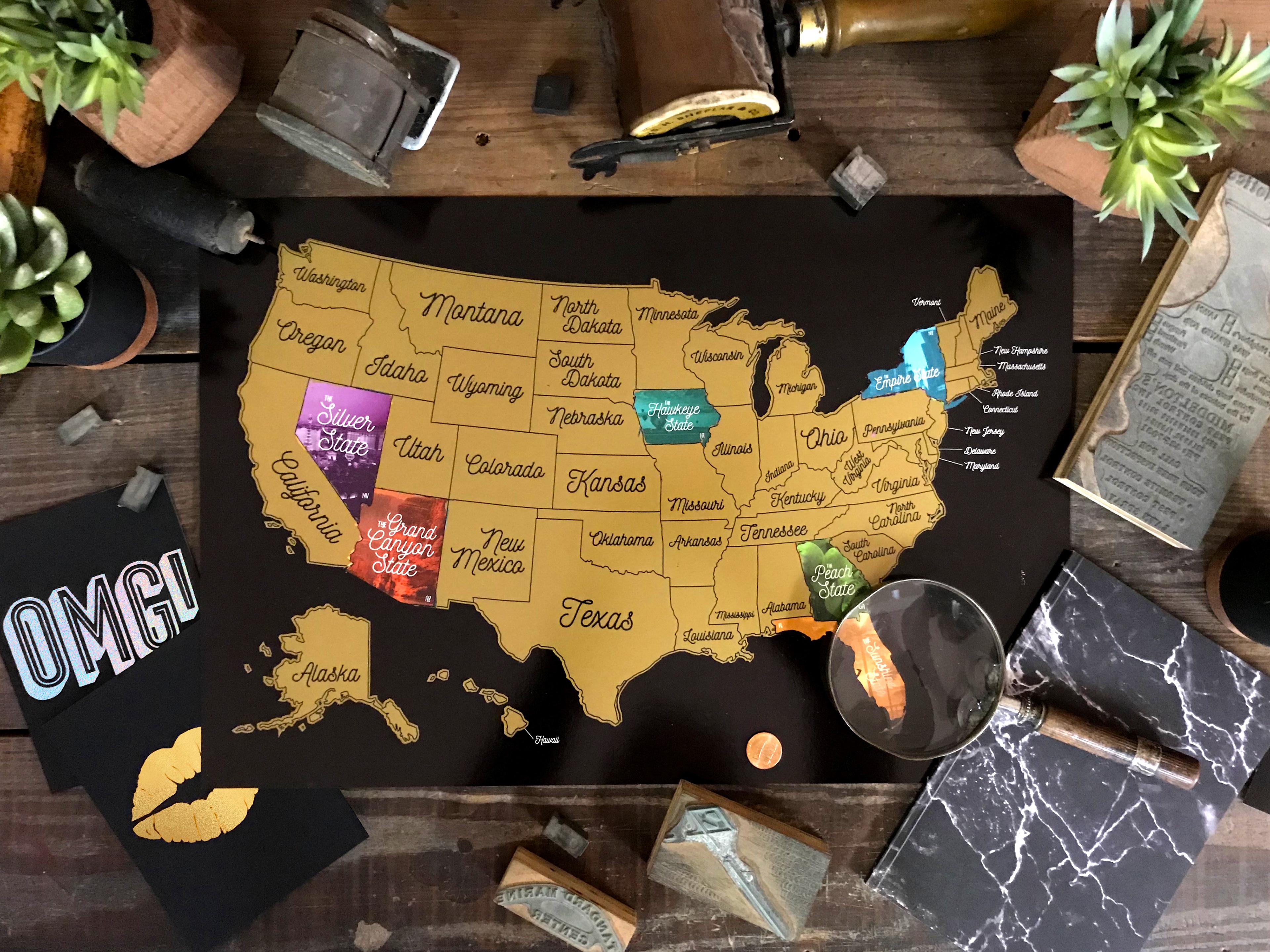Allie Barberan Creative Benjaminpop Us Scratch Off Map