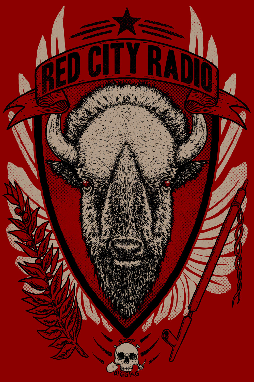 0f1b5fa099f Dominic Sohor - Red City Radio Buffalo T-Shirt