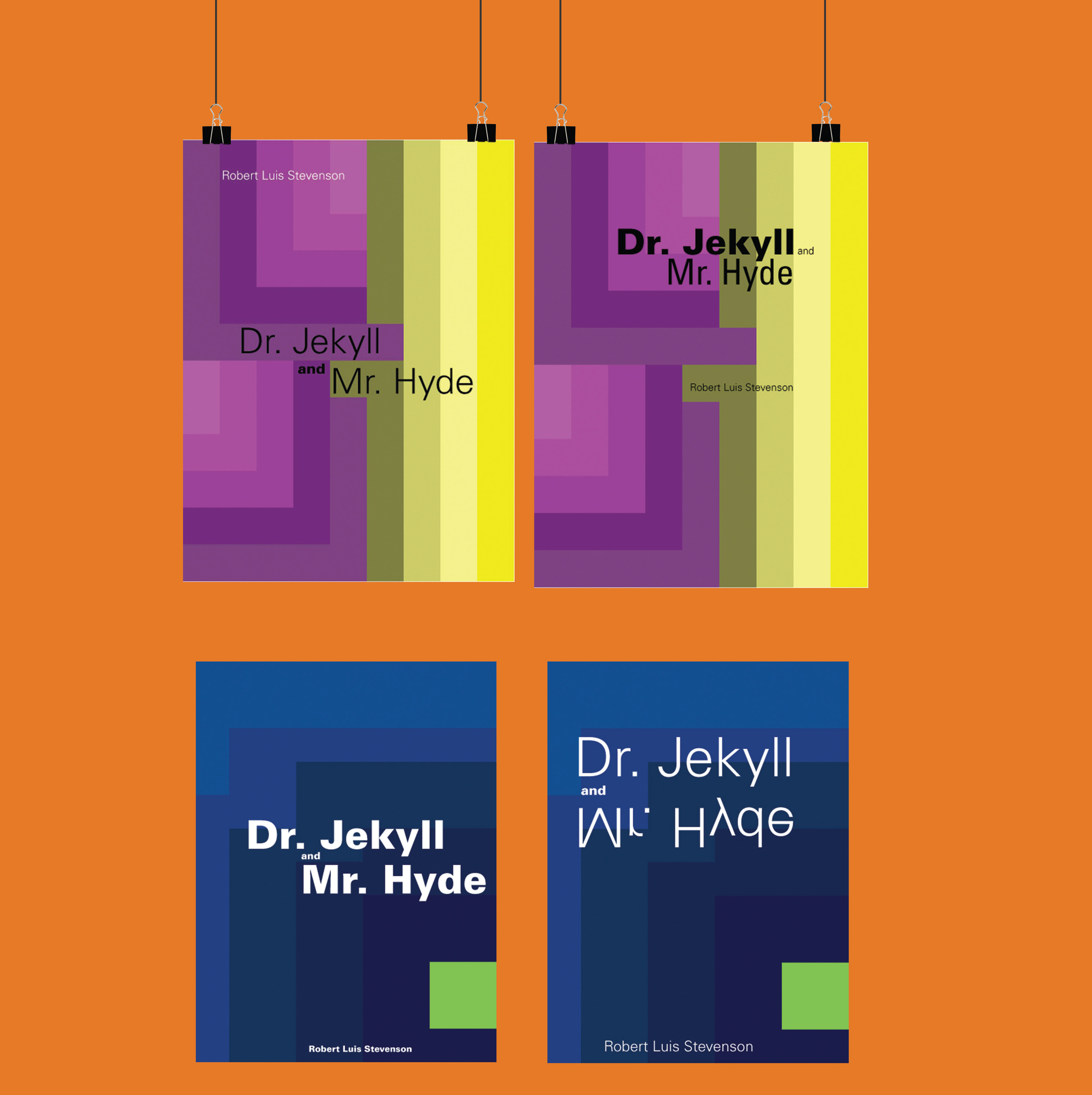 Elizabeth Villarreal - Dr. Jekyll and Mr. Hyde, Color Theory Book Covers