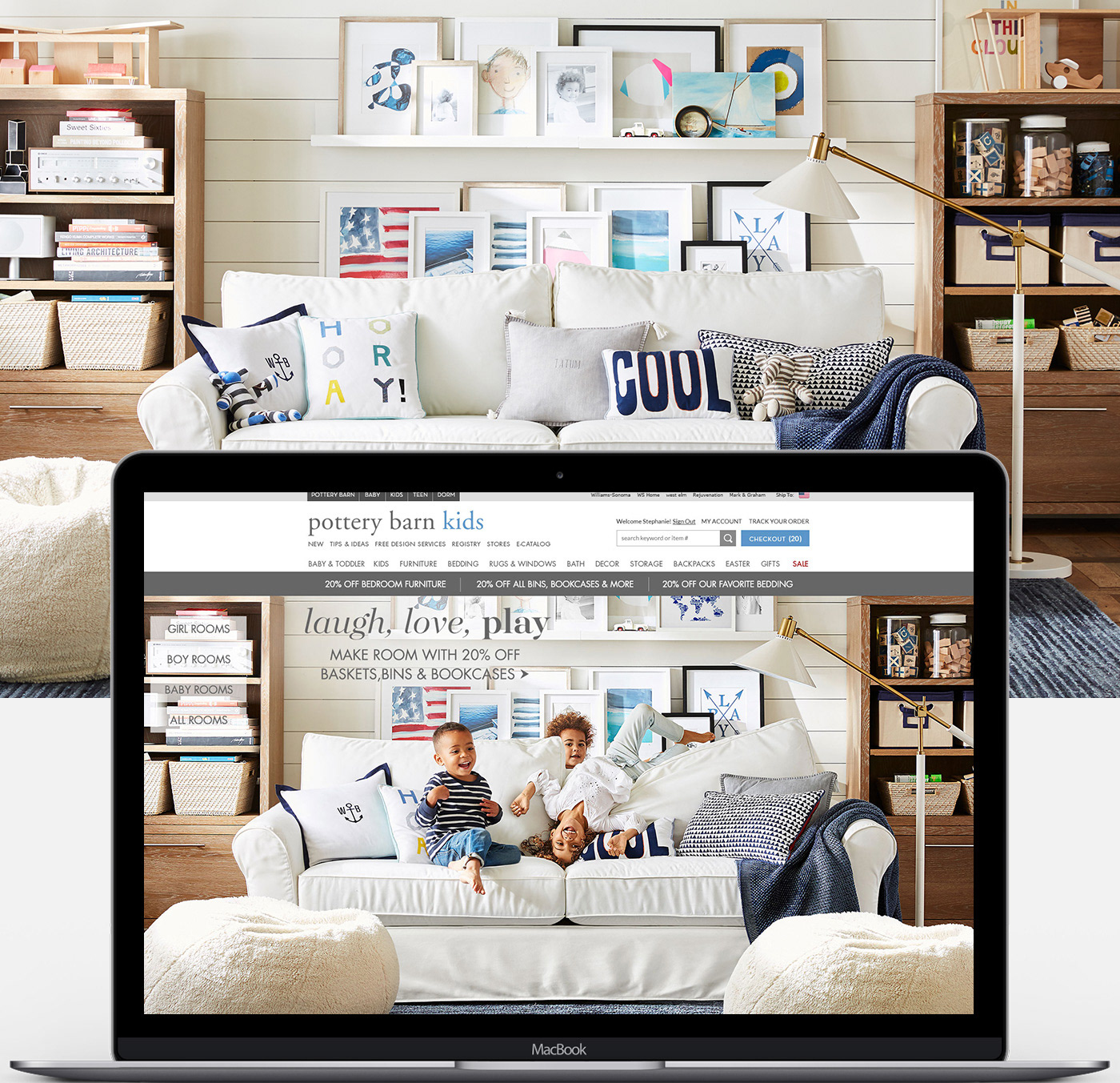 pottery barn kids homepages - Kids Home Pages