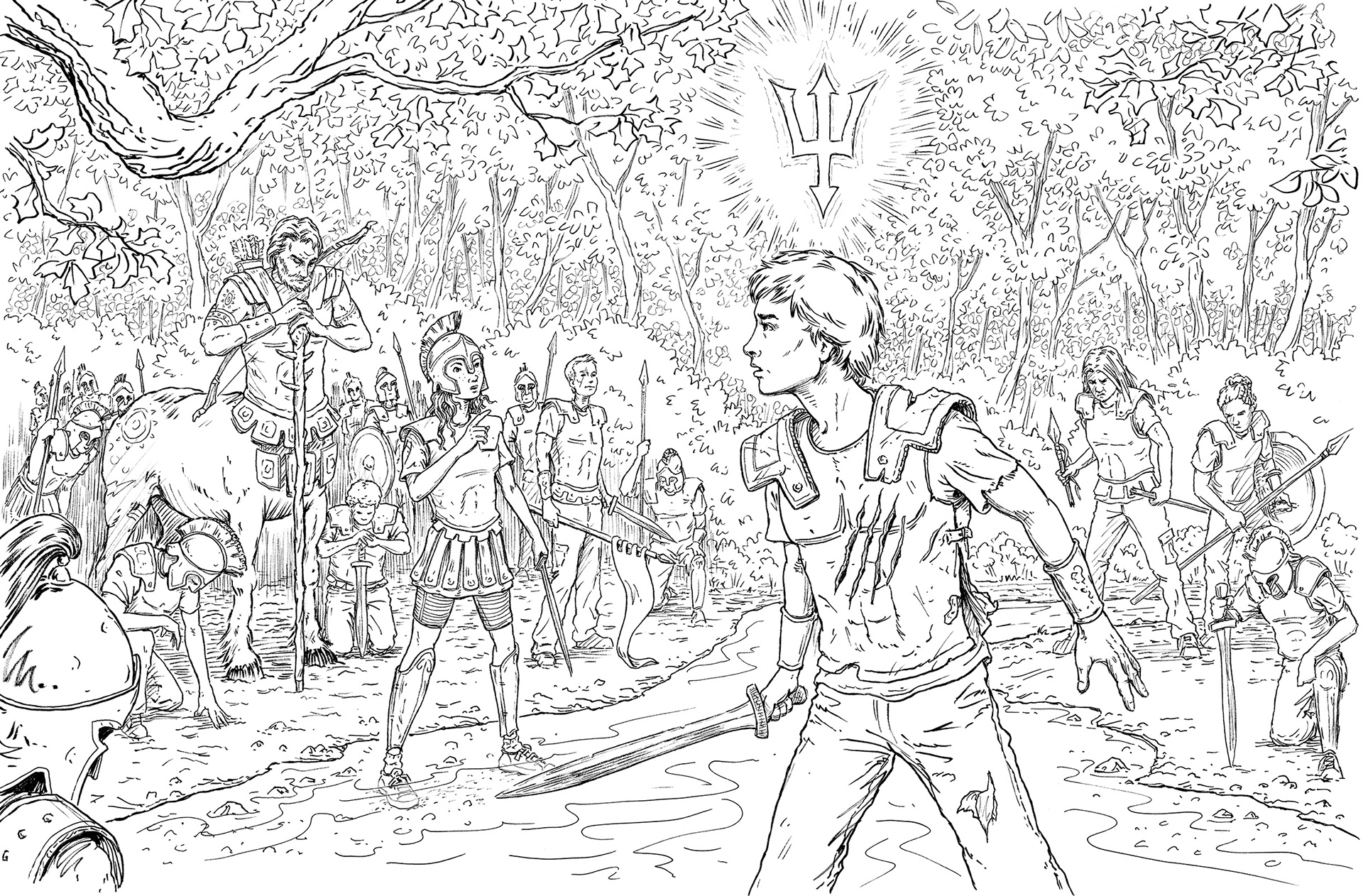 Keith Robinson Illustration - The Percy Jackson Colouring Book
