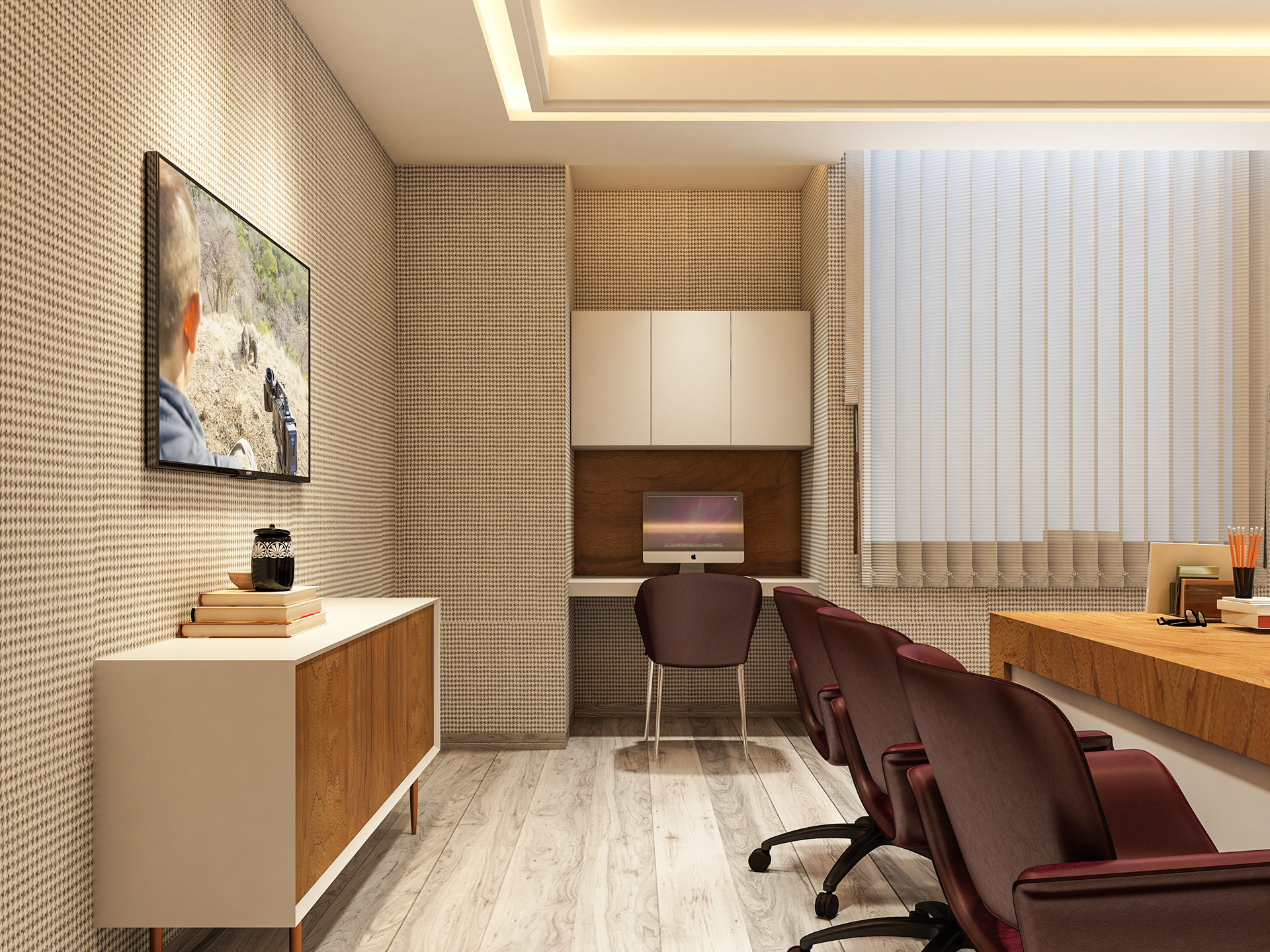 Fusion Studio Office Interior Design Visualization