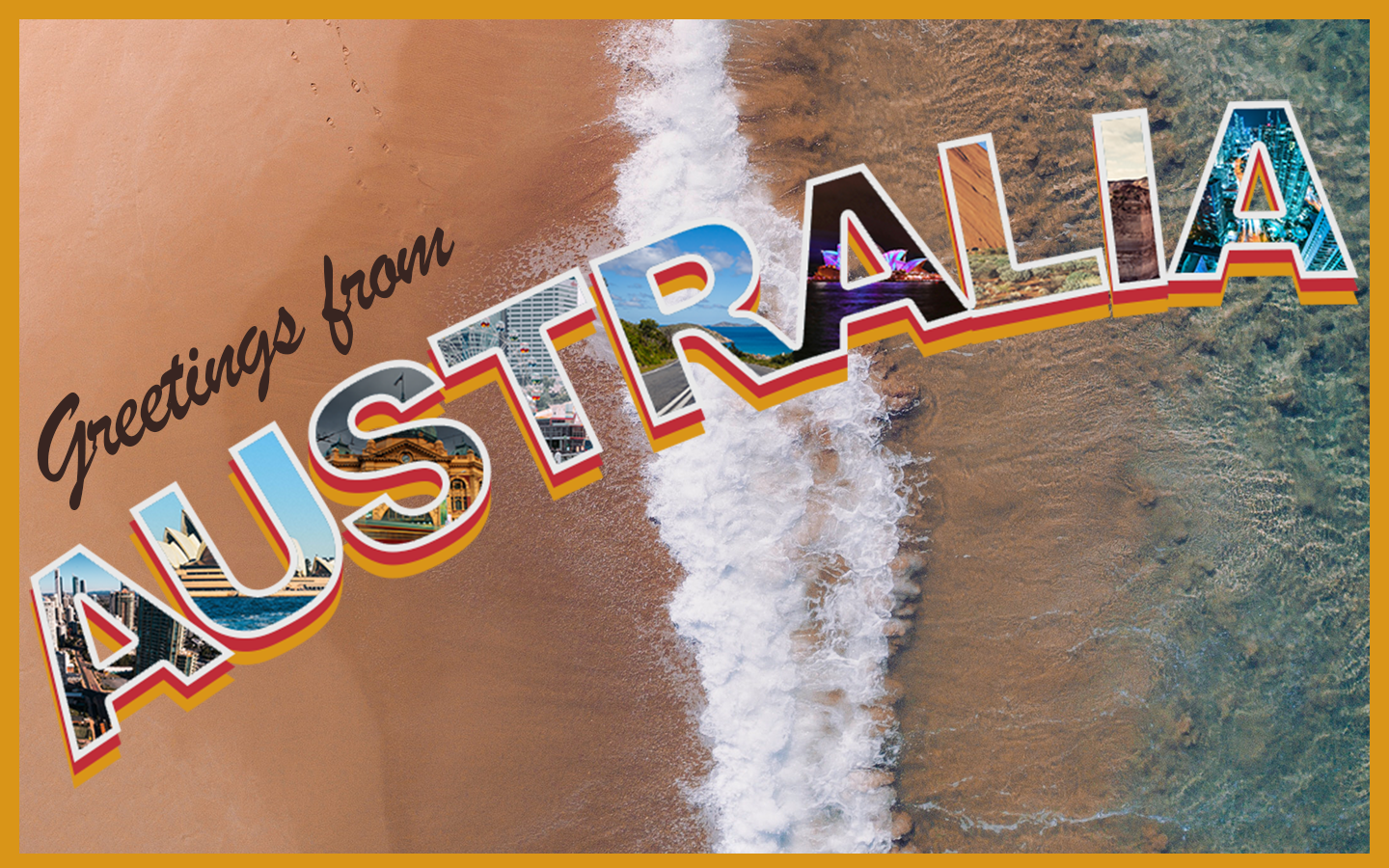 Will Laver Greetings From Australia Postcard