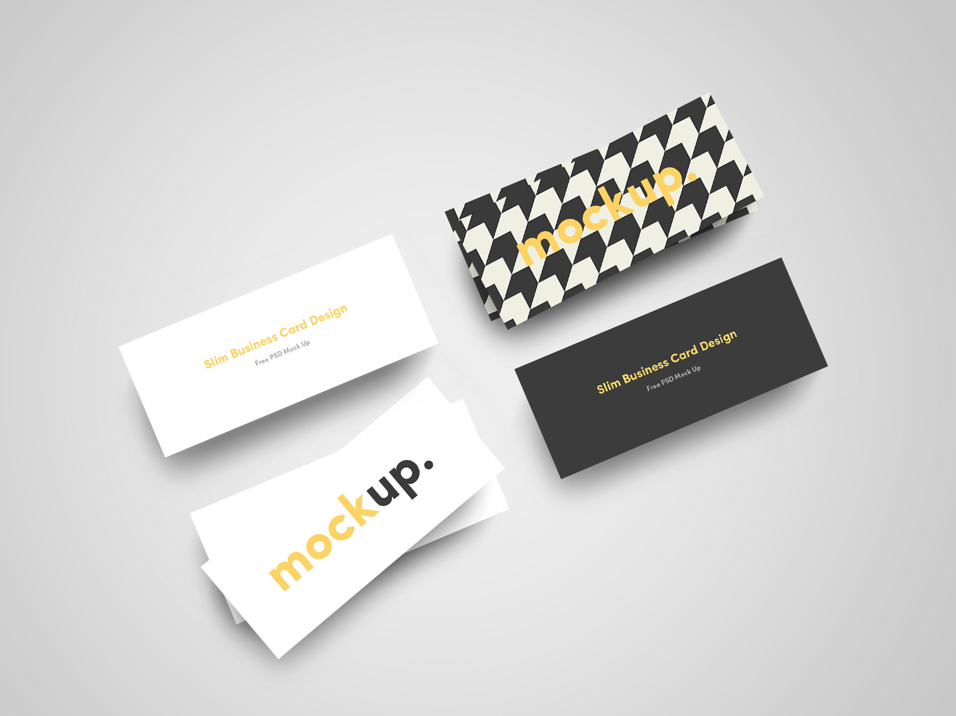 Jan-Alfred Barclay - Slim Business Card Mock Up (FREE)