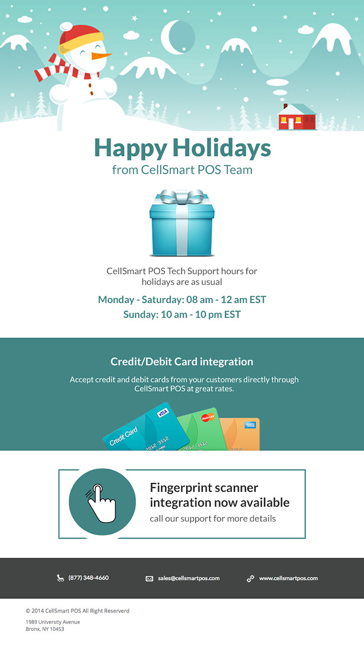 Ahmed Hassan Happy Holidays Email Template