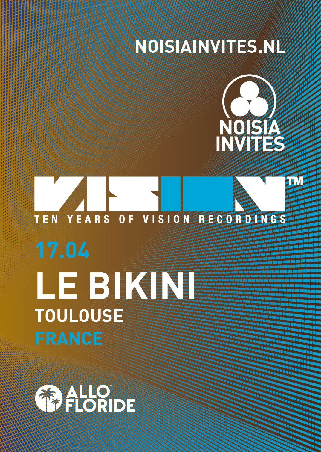 Poster design visio - Poster Ontwerp Voor Noisia Invites 10 Years Of Vision Poster Design For Noisia Invites 10 Years Of Vision