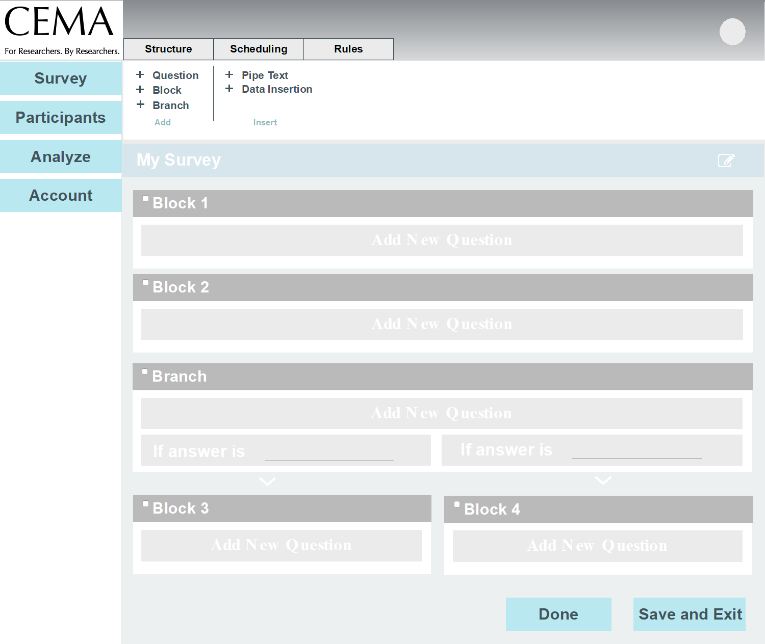 Sunnie Liu Clinical Ema Assessment Tool Interface Design Piping Layout Questionnaire We Created Pages Including A Homepage Displaying Survey Topics Participant Page To Customizing Scheduling And Rules For Questions