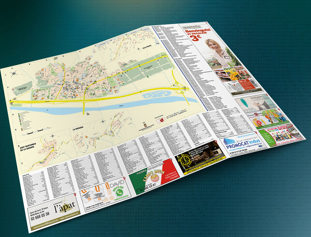 Mapa Molins De Rei.Fanrodas Mapa Comercial Molins De Rei