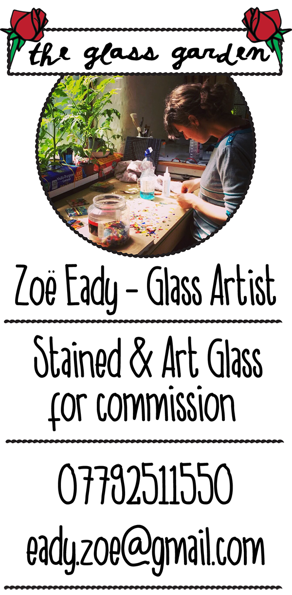 "Stained Glass Leeds, Zoe Eady Art Glass Yorkshire for Commission.Ttraditional leaded lights. Zoe working in the Glass Garden studio. <meta name=""google-site-verification"" content=""vSqRWFJH4HWaWMFOaxvIWfEGRrsKLdmaQCzHV5Xr6dI"" />"