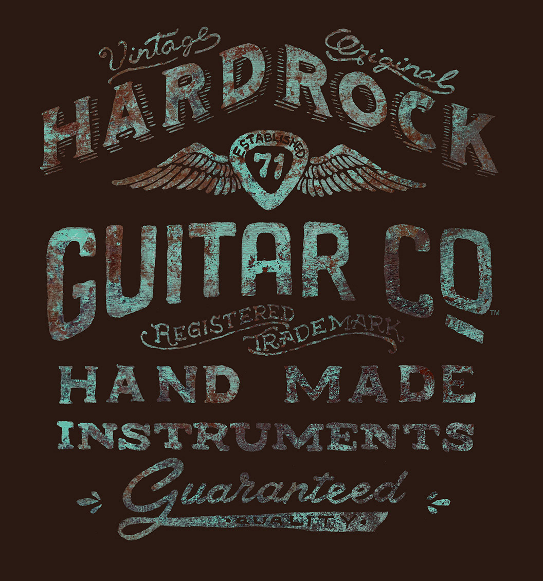 64dbae9e Michael Hinkle Graphic Design and Illustration - Hard Rock T-shirt ...