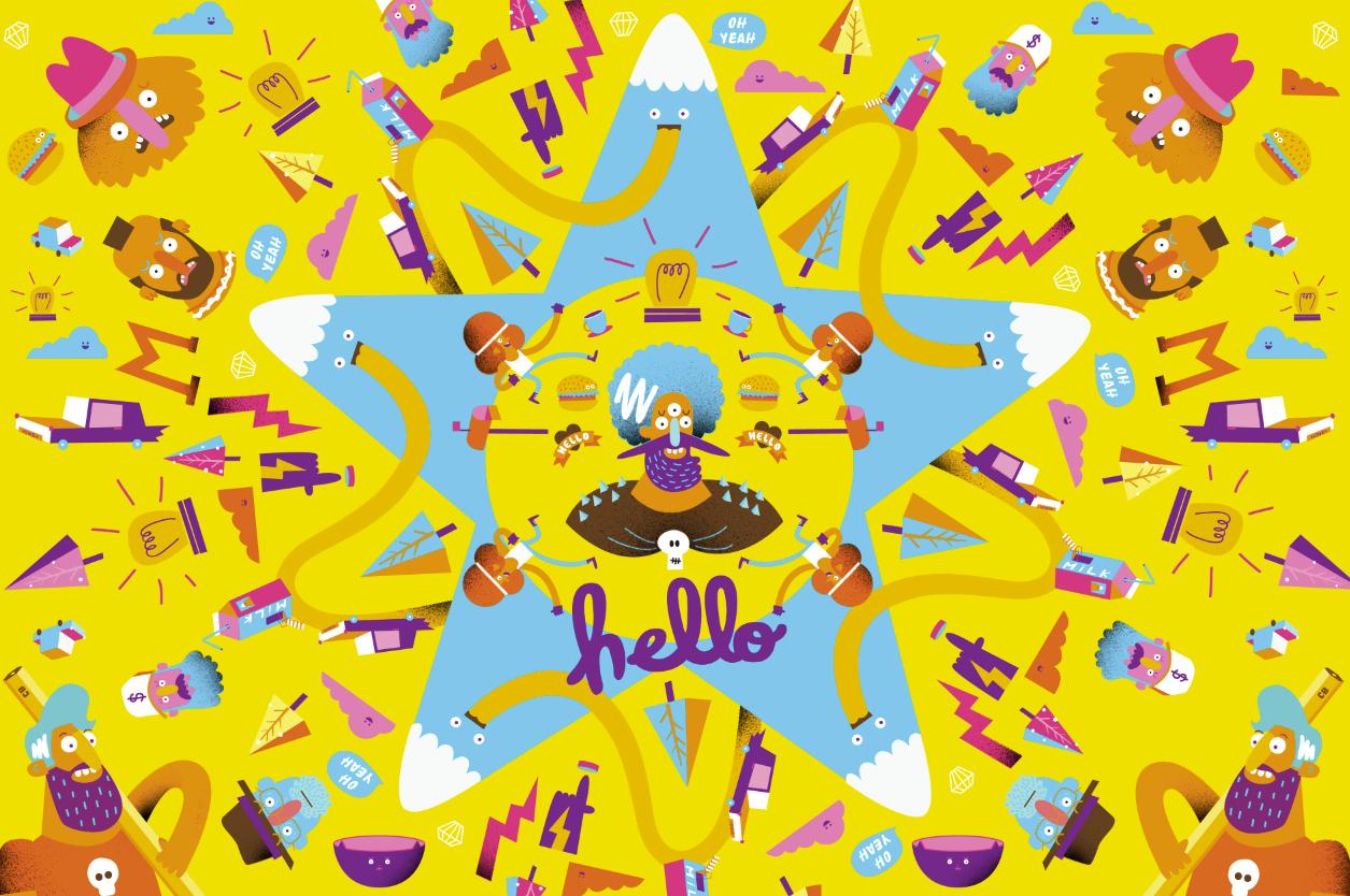 Chloe Batchelor Illustration Studio - Kaleidoscope