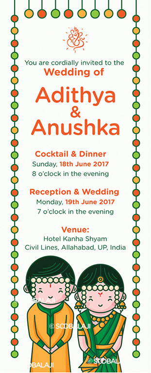 Quirky Indian Wedding Invitations Marathi Wedding