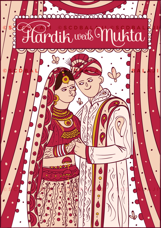 Quirky & Creative Indian Wedding Invitations Hindu Punjabi Wedding