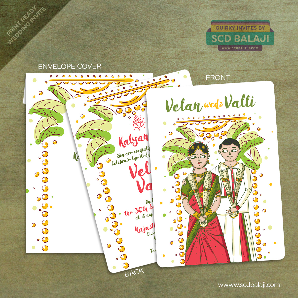 Quirky & Creative Indian Wedding Invitations - Tamil Wedding ...