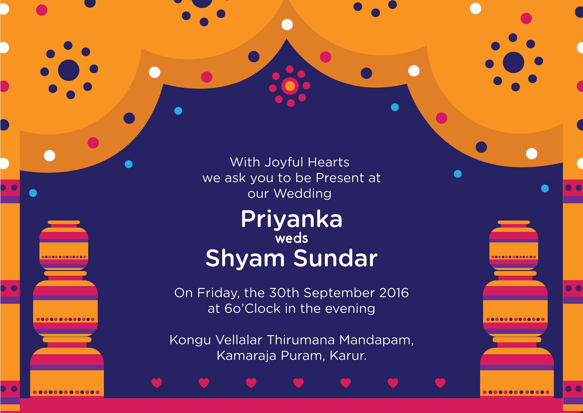 Quirky creative indian wedding invitations vivid indian wedding card 350 gsm gloss laminated stopboris Choice Image