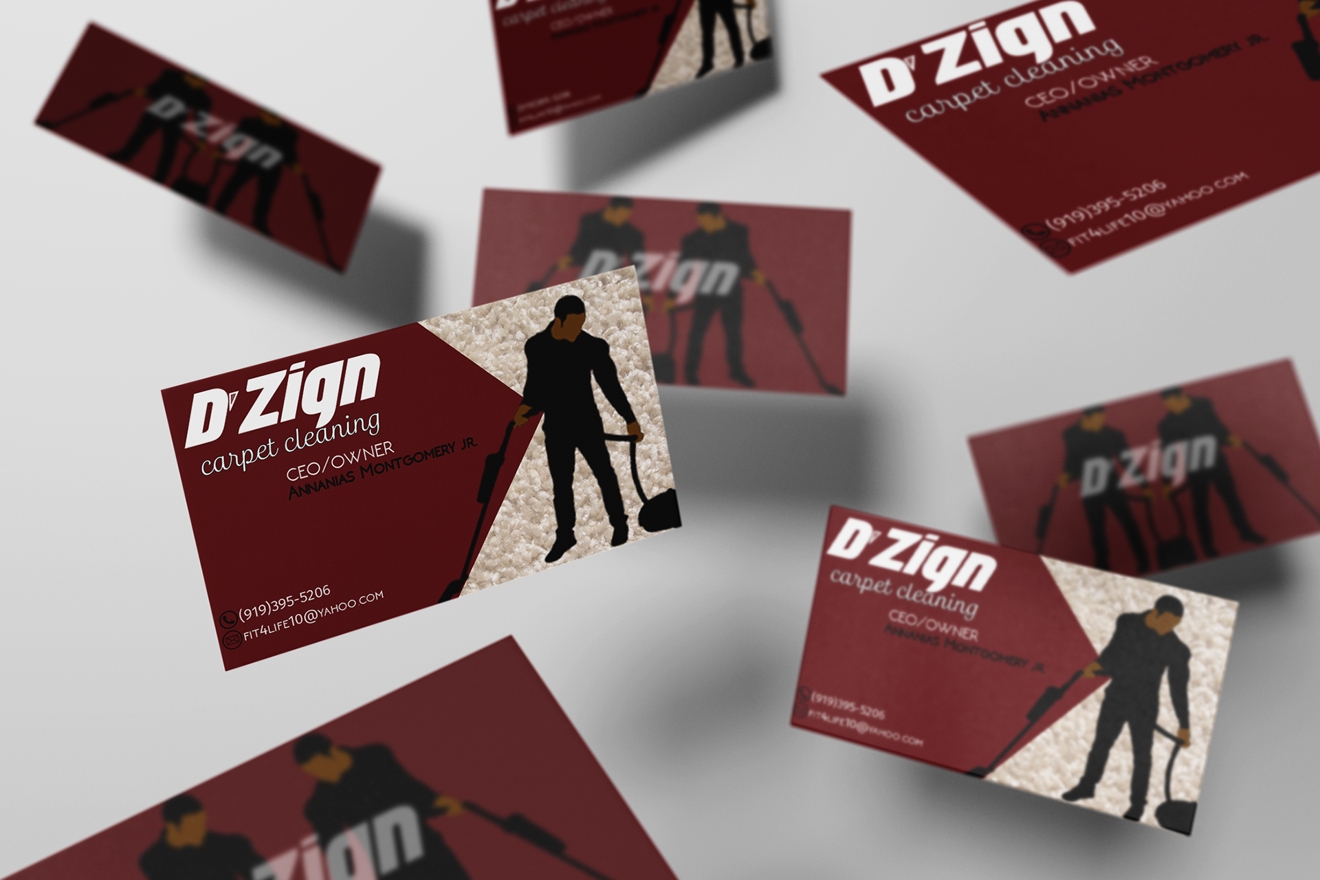 Shakira montgomery carpet cleaning business cards dzign baanklon Gallery