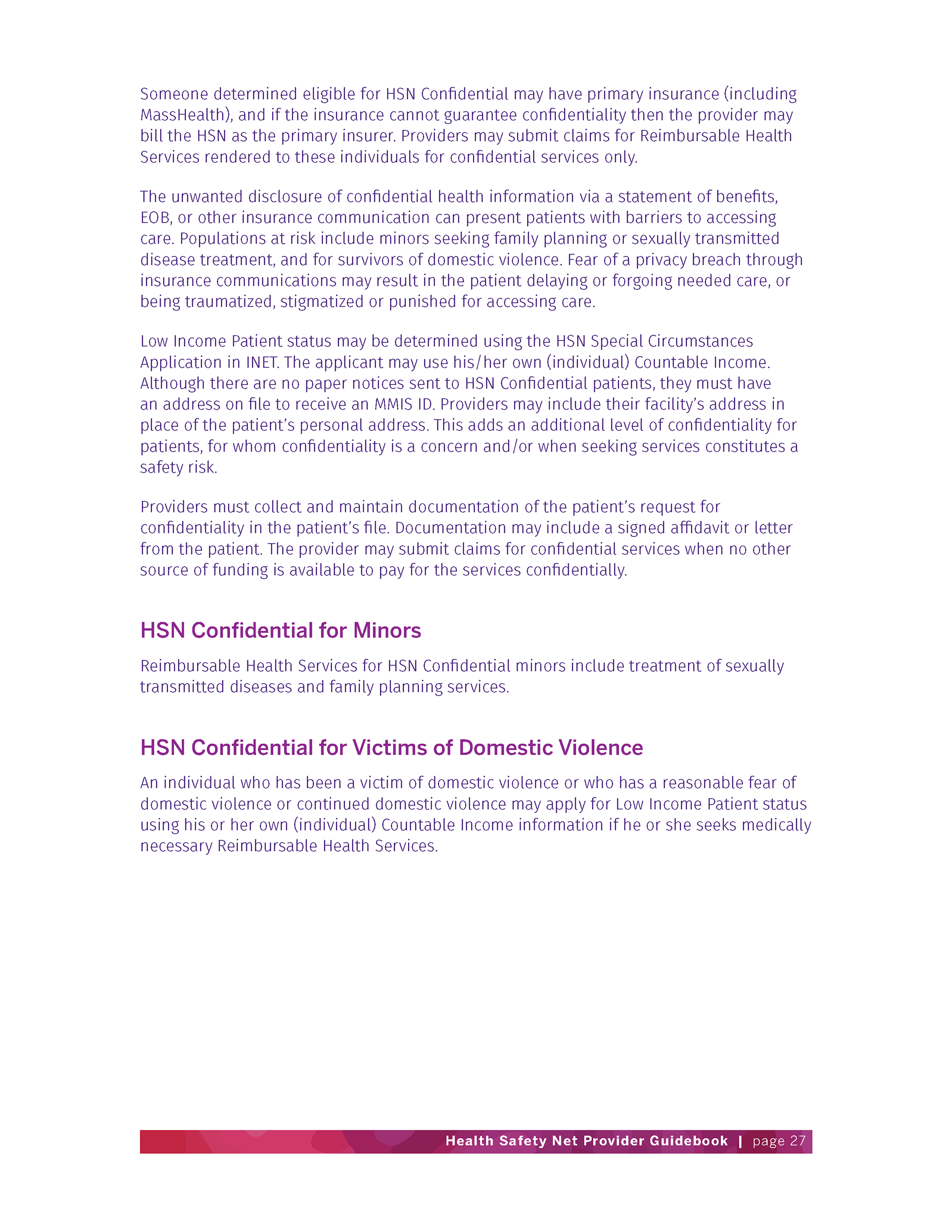 Lucia Colella Yantosca Health Safety Network Booklet