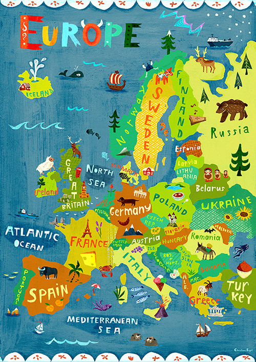 Christiane Engel - Illustration Portfolio / Children's Books ... on poland map, mexico map, netherlands map, greece map, united kingdom map, cuba map, europe map, hungary map, scotland map, road map, germany map, japan map, india map, russia map, ireland map, italy map, keflavik airport map, spain map, scandinavia map, greenland map,