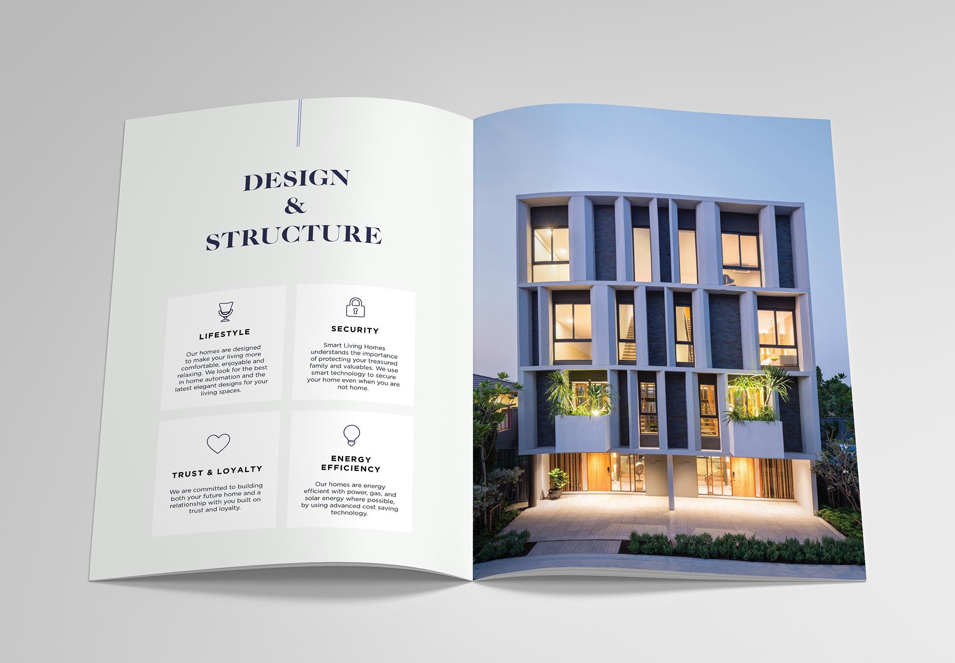 Rebecca tomas smart living homes brochure castle group for Smart living homes