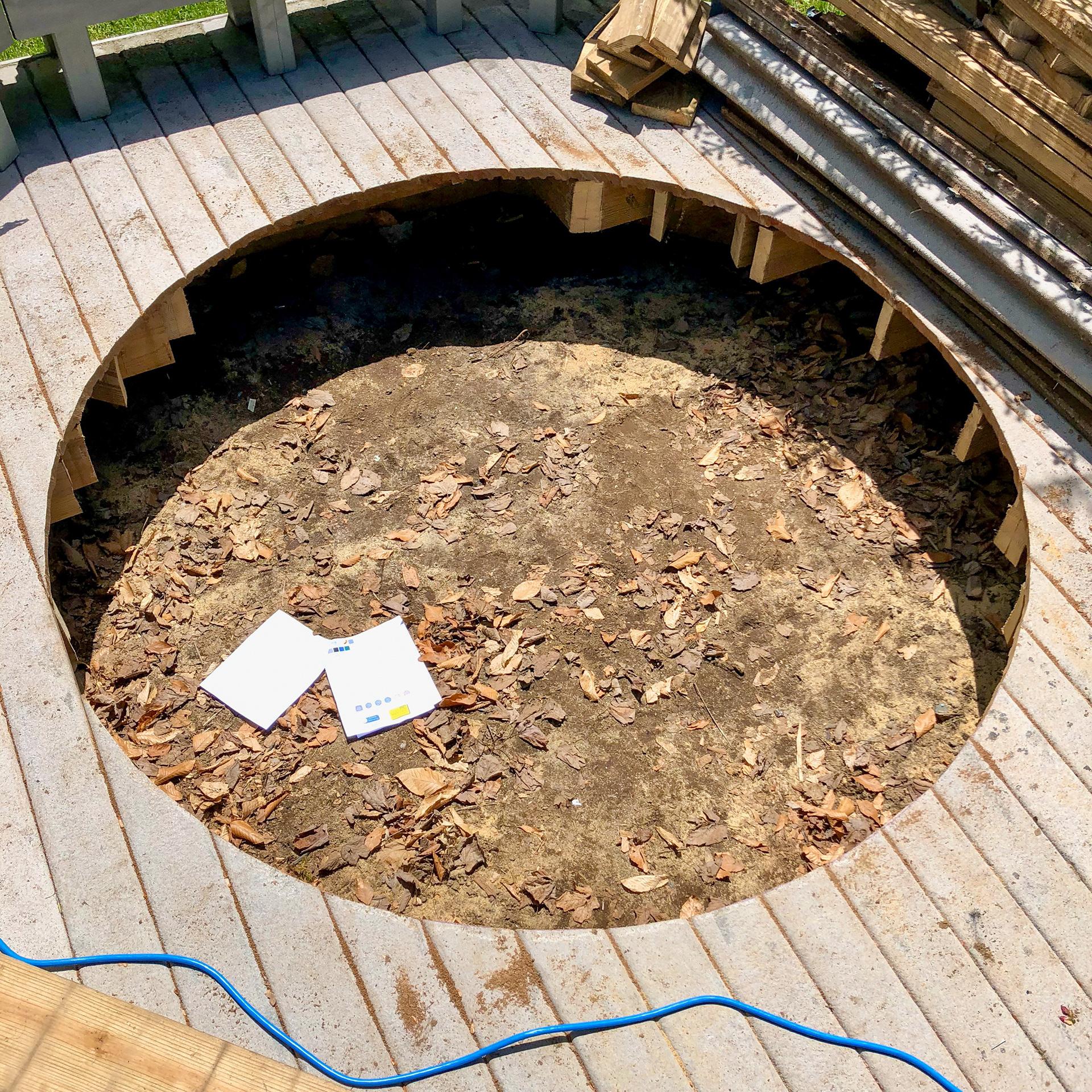 Peter Hollander Concrete Slab For Hot Tub