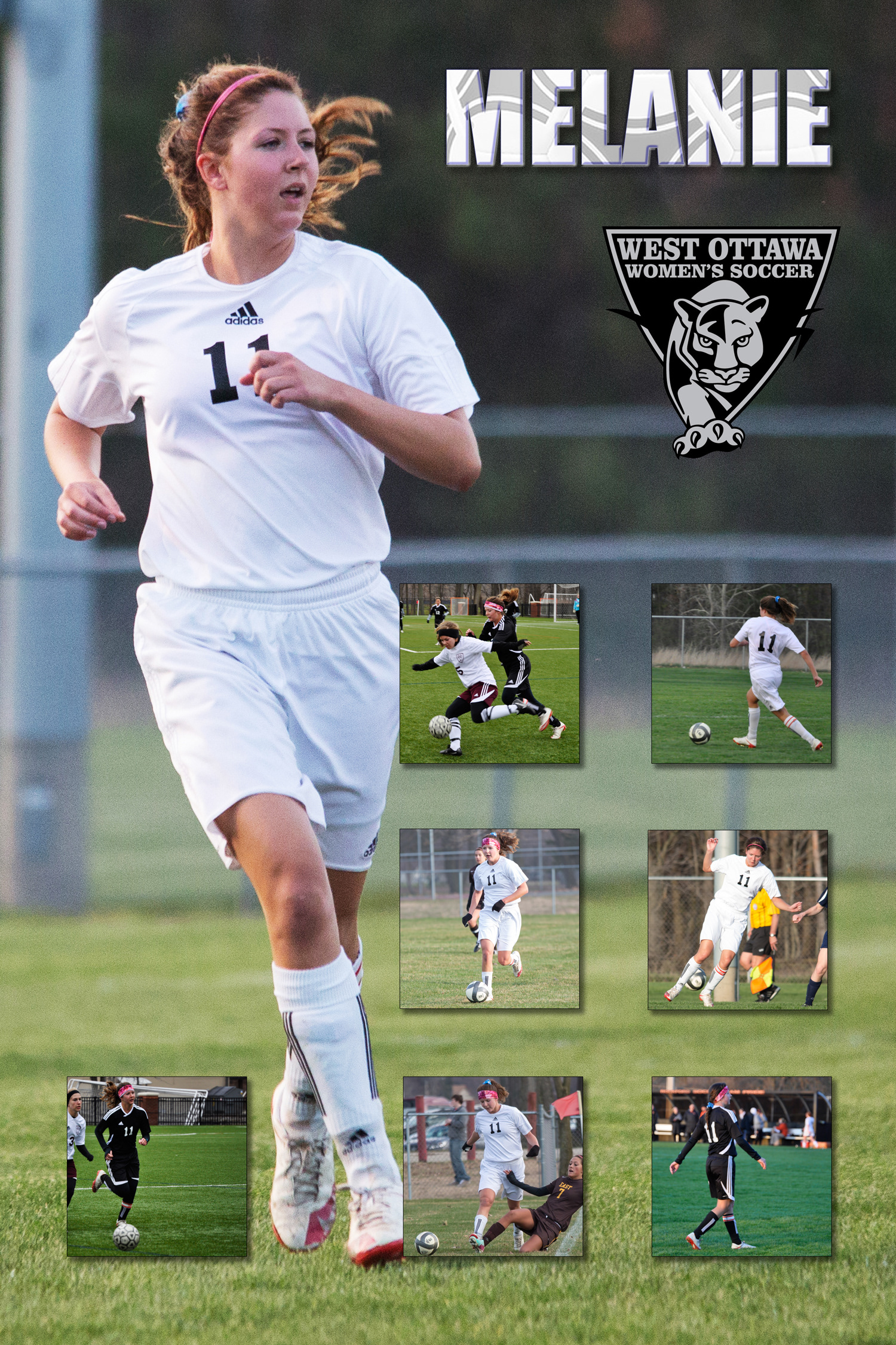 These Are As Series Of 20x30 Posters I Designed And Produced For A Local High School Girls Soccer Team Senior Class Combined Images With Some