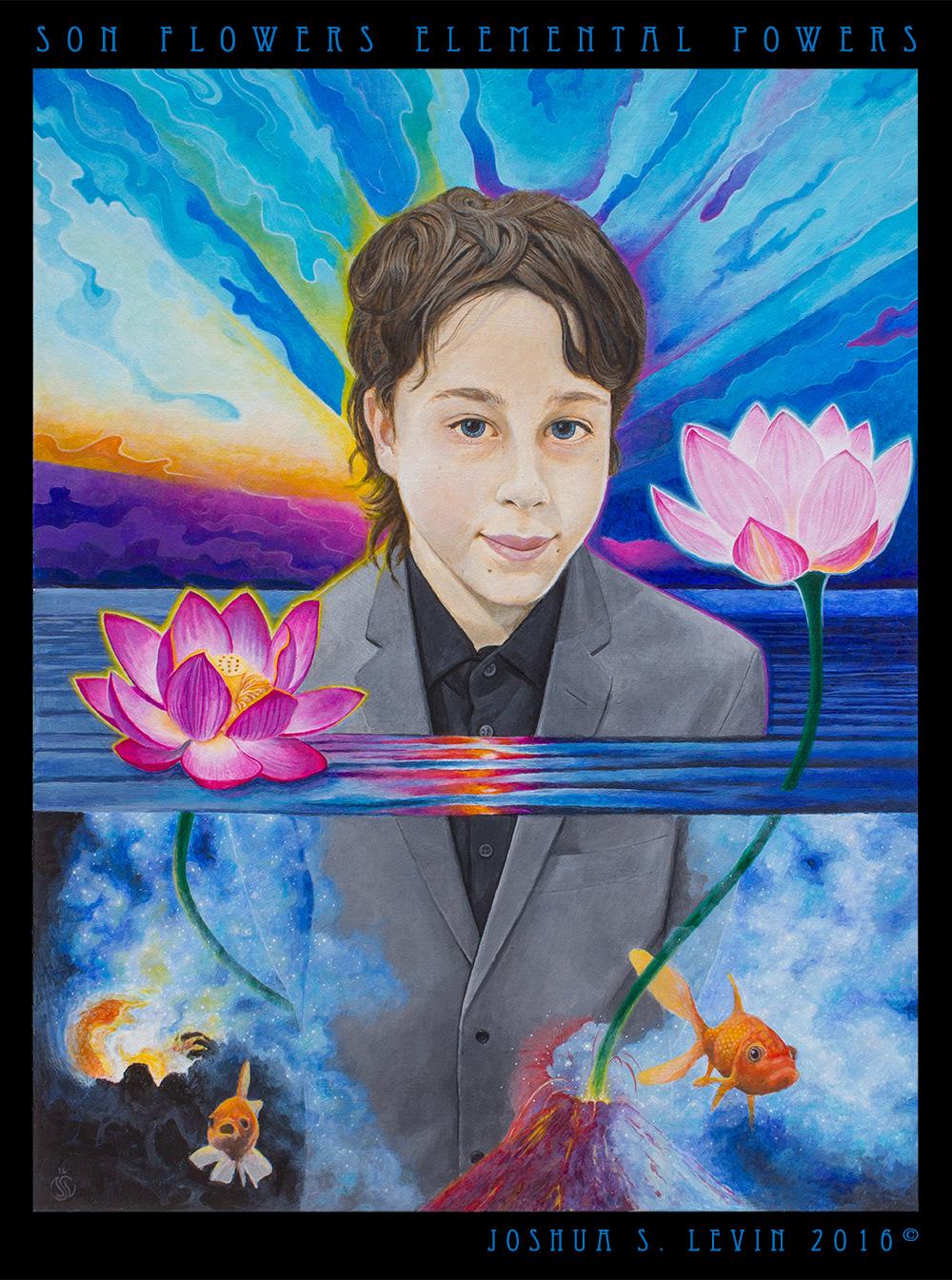 joshua s levin son flowers elemental powers