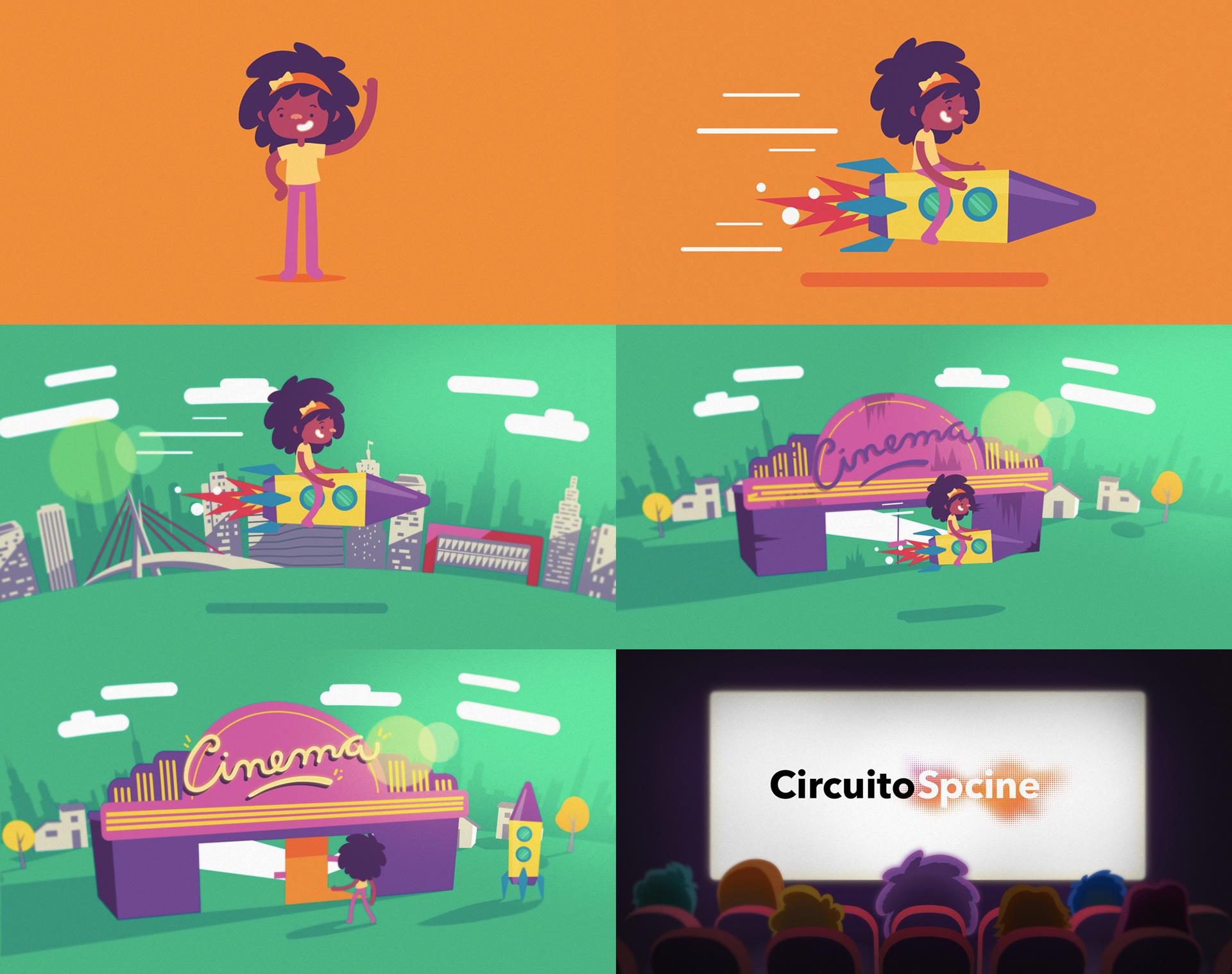 Circuito Sp Cine : Estúdio rufus ilustração e design circuito spcine de cinema