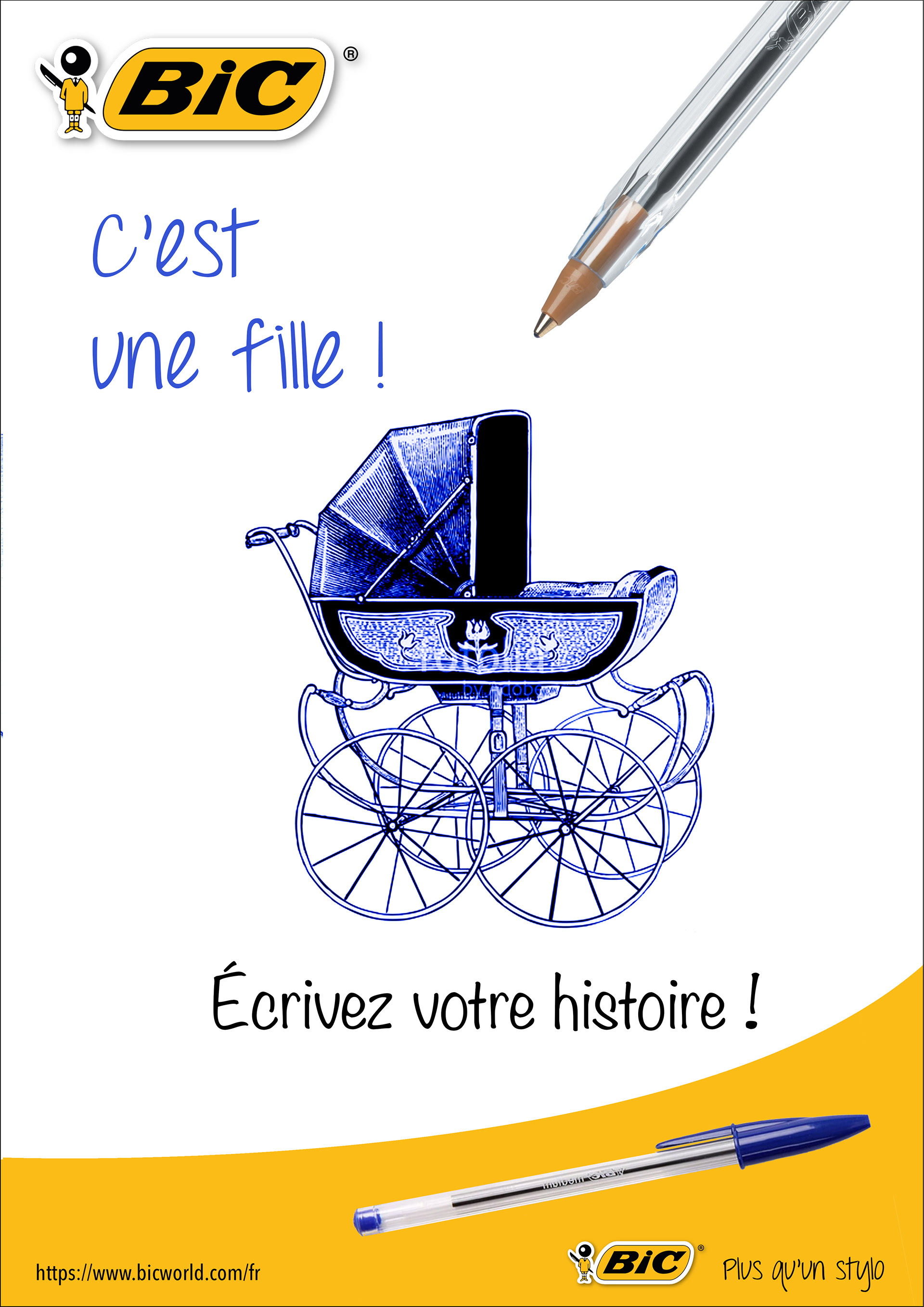 Elodie Caillaud Campagne Publicitaire Bic