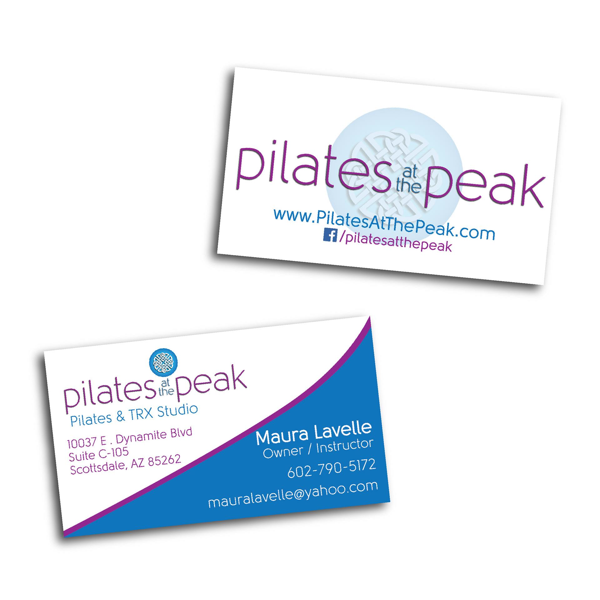 Ginomai creative design portfolio pilates at the peak scottsdale az business card design colourmoves