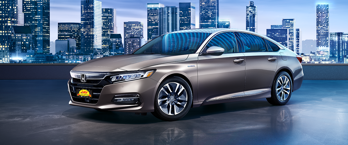 The All-New 2018 Red Honda Accord Hybrid Sedan at Jay Honda