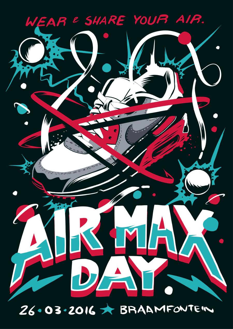 f52327bedf90e1 IAN JEPSON - ILLUSTRATION & DESIGN - Nike 'Air Max Day' Poster
