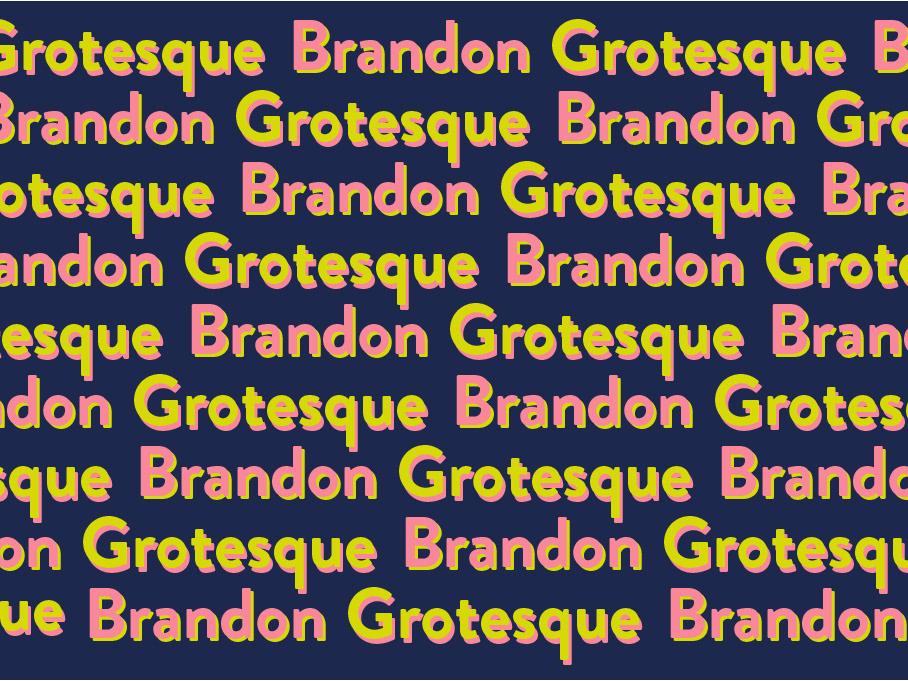 brandon chacon - Brandon Grotesque Motion specimen
