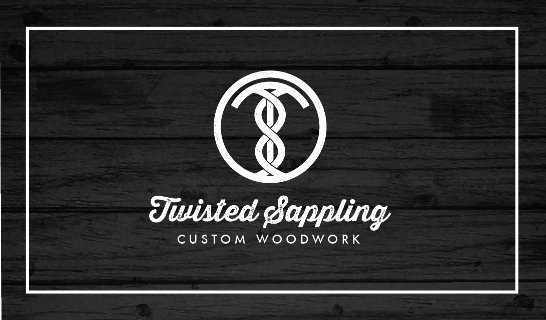 custom woodworking logos. twisted sappling custom woodwork woodworking logos e
