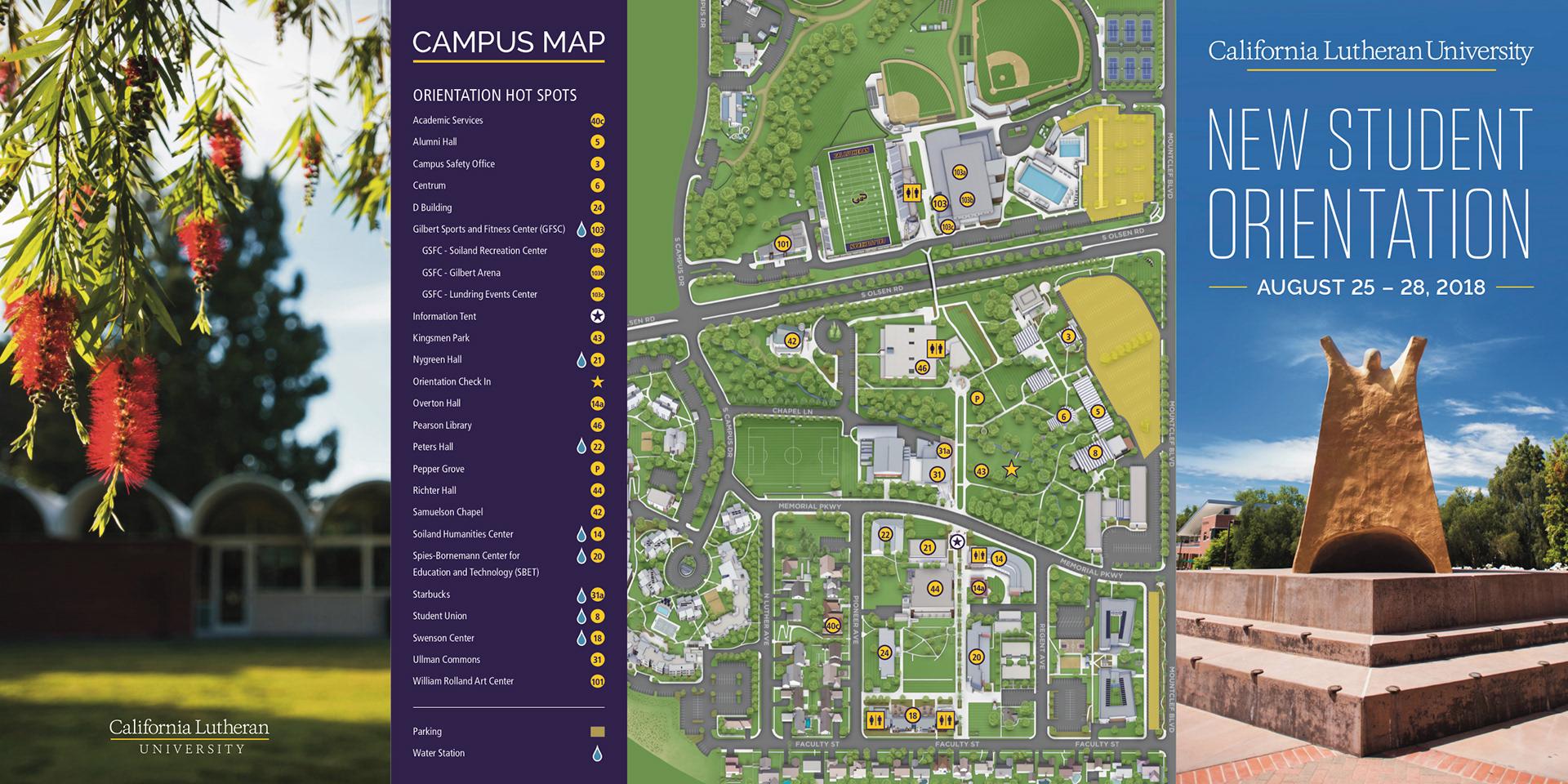 California Lutheran University Campus Map.Alyssa Pasetta New Student Orientation