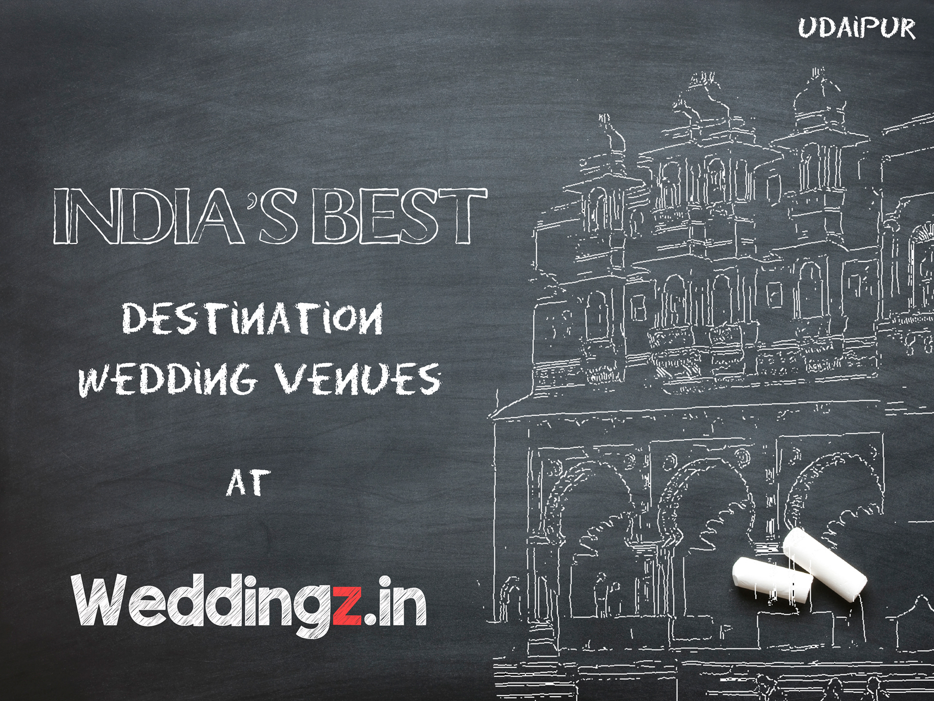 shivangi mahajan chalkboard theme marketing creatives for weddingz in