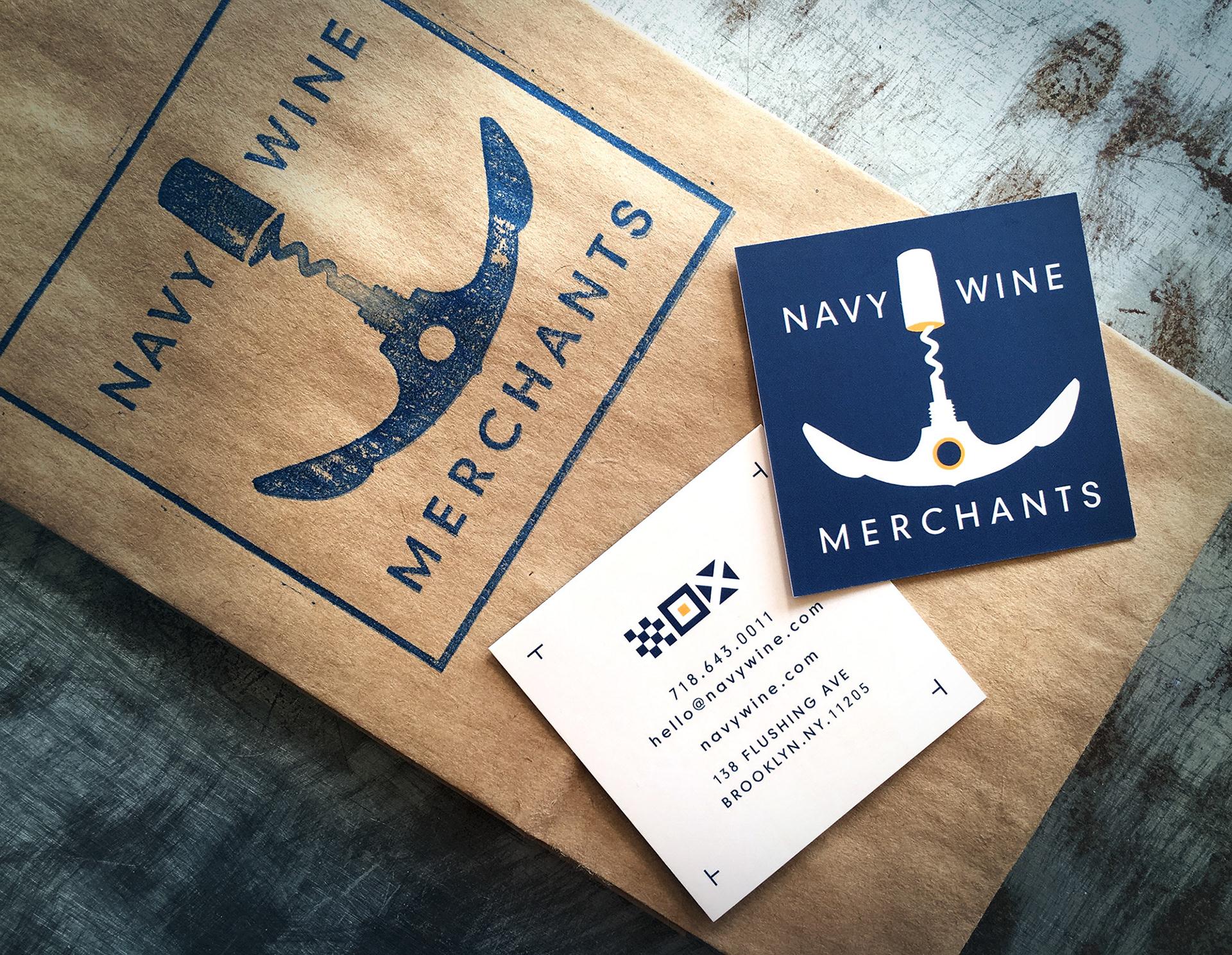 Silo design inc navy wine merchants logo and signage navy wine merchants logo and signage reheart Gallery