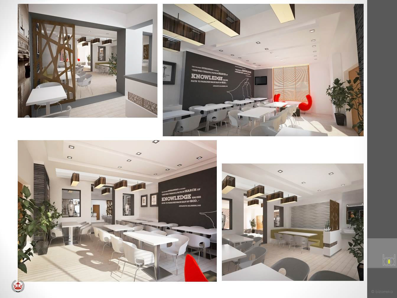 Proposed interior design refurbishment works for brunei student unit dining hall at 35 43 norfolk square london w2 1rx united kingdom
