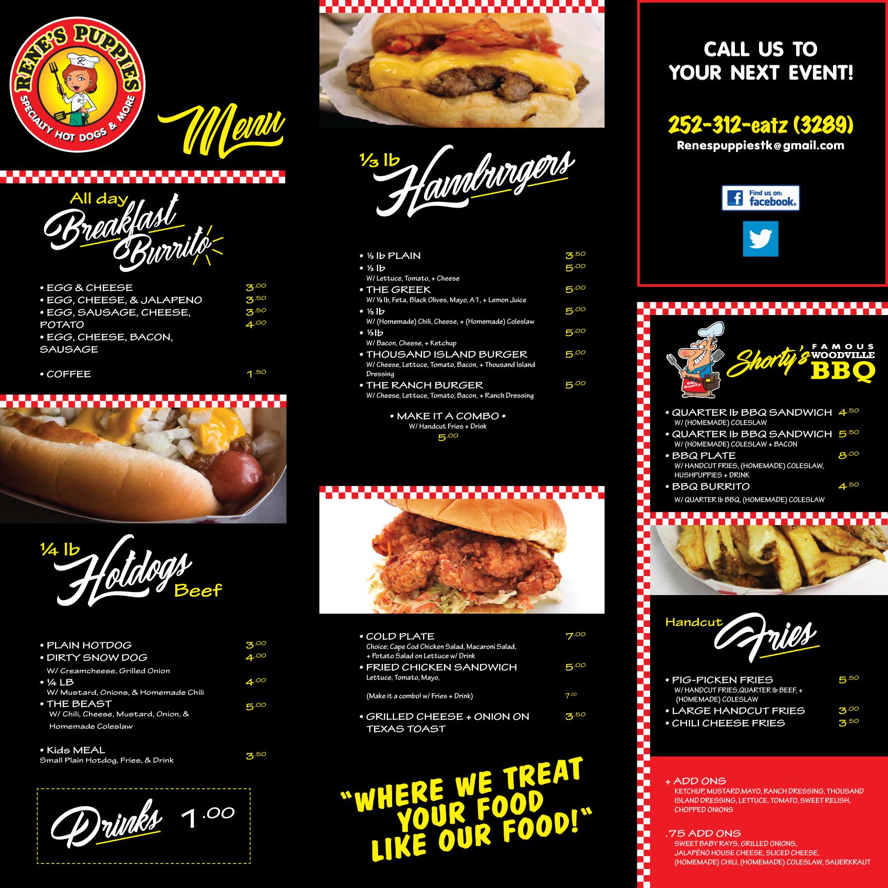 andrew nelson redondo rene s puppies food truck menu